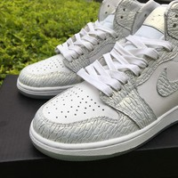 NIKE AIR JORDAN 1 RETRO HIGH GS FROST WHITE HEIRESS PACK 832596 100