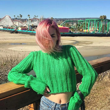 Scoop Neck Stretch Knit Pullover Top Sweater