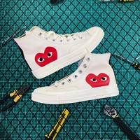 Cdg Play X Converse Chuck Taylor 1970s High White