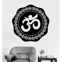 Wall Sticker Aum Om Mantra Chakra Zen Relaxation Vinyl Decal Unique Gift (z2940)