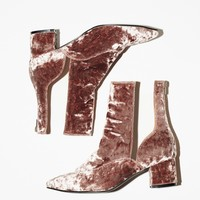 Free People Velveteen Heel Boot
