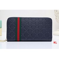 Gucci Long leather fashion Zipper Wallet  [305810604061]