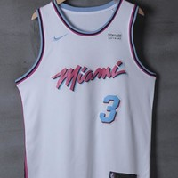 Miami Heat #3 Dwyane Wade Nike City White Edition NBA Jerseys