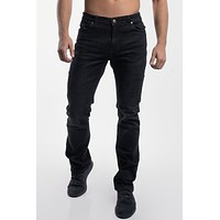 Boot Cut Athletic Fit in Jet Black