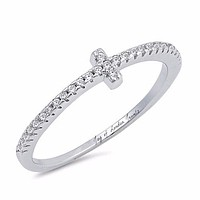 1.9TCW T Russian Lab Diamond Engagement Ring Pinky Ring