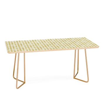Leah Flores Gold Confetti Coffee Table