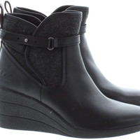 Ugg Australia Emalie Wedge Ankle Boots In Black