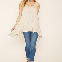 Heathered Trapeze Top