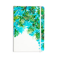 "Ebi Emporium ""Floral Cascade 8"" Teal Green Everything Notebook"