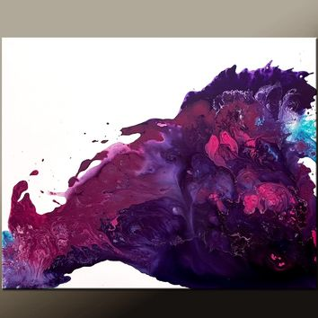 Abstract Canvas Art Contemporary Painting by Destiny Womack - dWo - Whispers