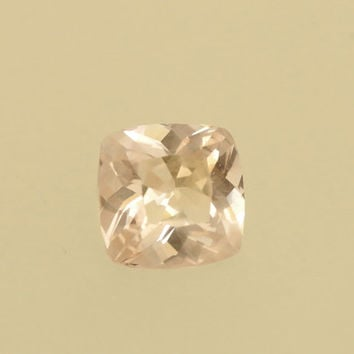 Peach Champagne Sapphire Cushion Shape Loose Gemstone for Engagement Ring or Weddings