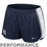 Nike New York Yankees Womens Dri-FIT Pacer Performance Shorts - Navy Blue