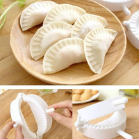 New 1 Set/3 pcs Easy Kitchen Product Dumpling Mould DIY Samosa Empanada Tool (Color: White)