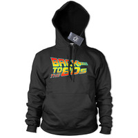 Back to the 80s Hoodie Retro Mens Womens Fancy Dress Outfit Future Top Disco 393
