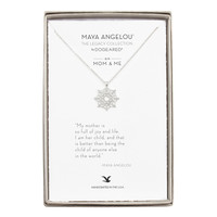 """""""My Mother Is So Full Of Joy…"""" Mom & Me Necklace, Sterling Silver 
