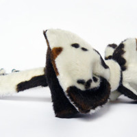 Bow Tie for Men by BartekDesign: self tie funny plush cow pattern informal rodeo country western cowboy