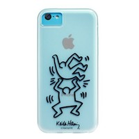 Case Scenario Keith Haring iPhone 5C Case - Two Men - Carrying Case - Retail Packaging - Clear
