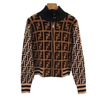Fendi Women Zip Up Jacket-8