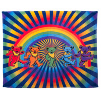 Grateful Dead Rainbow Bears Coral Fleece Blanket