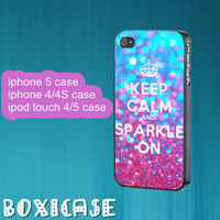 Keep Calm and Sparkle on--iphone 4 case,iphone 5 case,ipod touch 4 case,ipod touch 5 case,in plastic,silicone and black,white.