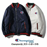 Champion new tide brand men's cardigan cotton jacket