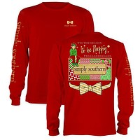 SALE  Simply Southern Tis The Season To Be Preppy Christmas Long Sleeve T-Shirt