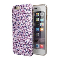 Purple Watercolor Triangle Pattern 2-Piece Hybrid INK-Fuzed Case for the iPhone 6/6s or 6/6s Plus