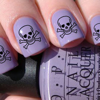 Skull and Crossbones Nail Decals 36 Ct.