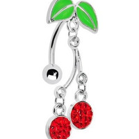 New Charming Dangle Crystal Navel Belly Ring Bling Barbell Button Ring Piercing Body Jewelry = 4804930372