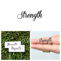 Quotes - Strength - Temporary Tattoo (Set of 2)