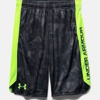 "Under Armour Boys UA Eliminator 9"" Shorts -1257821 Stealth Gray, Red Short Boy's"
