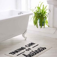 Taking Care Of Business Bath Mat