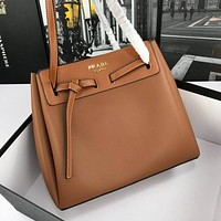 prada women leather shoulder bags satchel tote bag handbag shopping leather tote crossbody 345