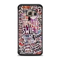 Taylor Swift Song Collage Actrees Samsung Galaxy S6 Edge Case
