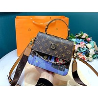 LV new simple graffiti printed logo women's handbag shoulder bag messenger bag