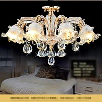 Aesthetic Gold Crystal Chandelier For Dining Room