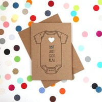 Shit Just Got Real Funny New Baby Congratulations Card Pregnancy Card Baby Shower Card FREE SHIPPING