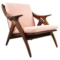 "Teak Dutch Mid-Century Modern Lounge Chair ""Knut"" by De Ster Gelderland, 1960s"
