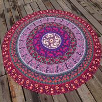 Soft Comfortable Ethnic Summer Beach Towel Printed Bohemian Cover Ups Scarves Wrap Pareo