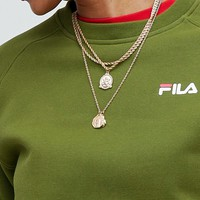 Fila oversized boyfriend sweatshirt with woven chest logo at asos.com