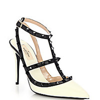 Valentino - Rockstud Leather Colorblock Pumps - Saks Fifth Avenue Mobile