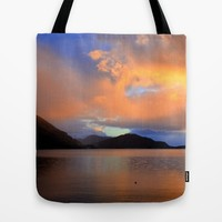 Sunset Tote Bag by Haroulita | Society6