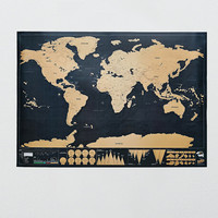 Deluxe Scratch Map - Urban Outfitters