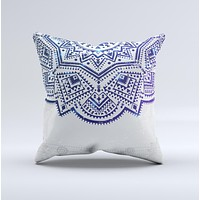 The Ethnic Indian Vector Ornament ink-Fuzed Decorative Throw Pillow