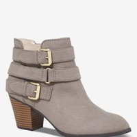 TRIPLE STRAP HEELED BOOTIE