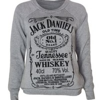 Womens Jack Daniels Sweater Top:Amazon:Clothing