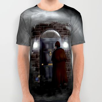 Haunted sherlock holmes house 221b iPhone 4 4s 5 5c, pillow case, mugs and tshirt All Over Print Shirt by Three Second