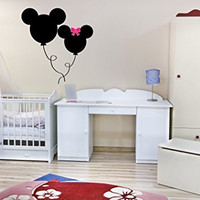 Mickey and Minnie Mouse Inspired Balloons Vinyl Wall Words Decal Sticker Graphic