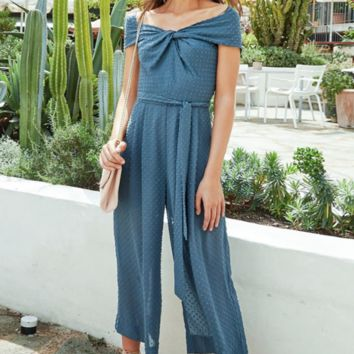 New holiday long jumpsuit Slim fashion trousers one shoulder female