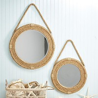 On The Ropes -- Jute Wall Mirror